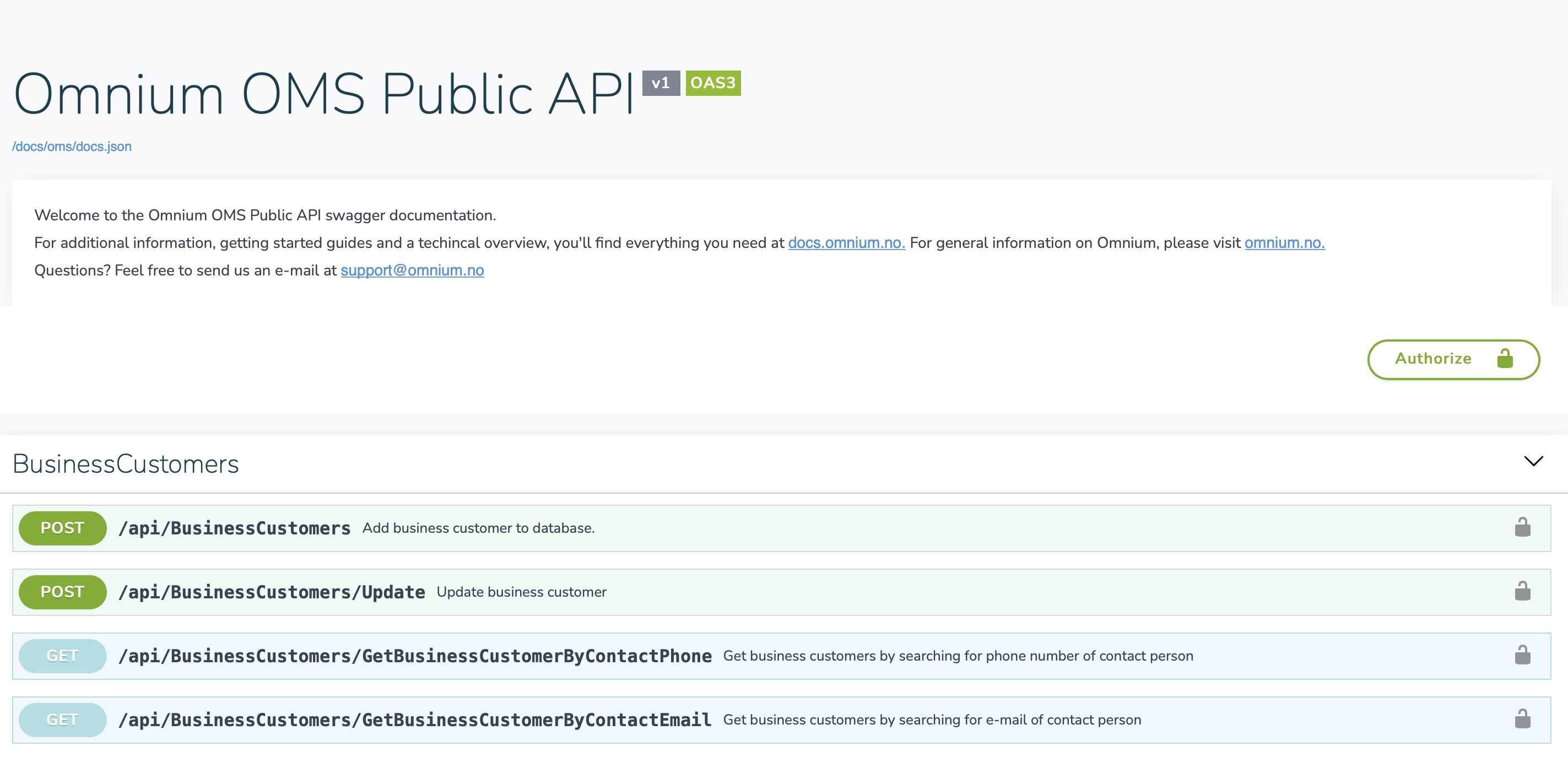 Omnium API